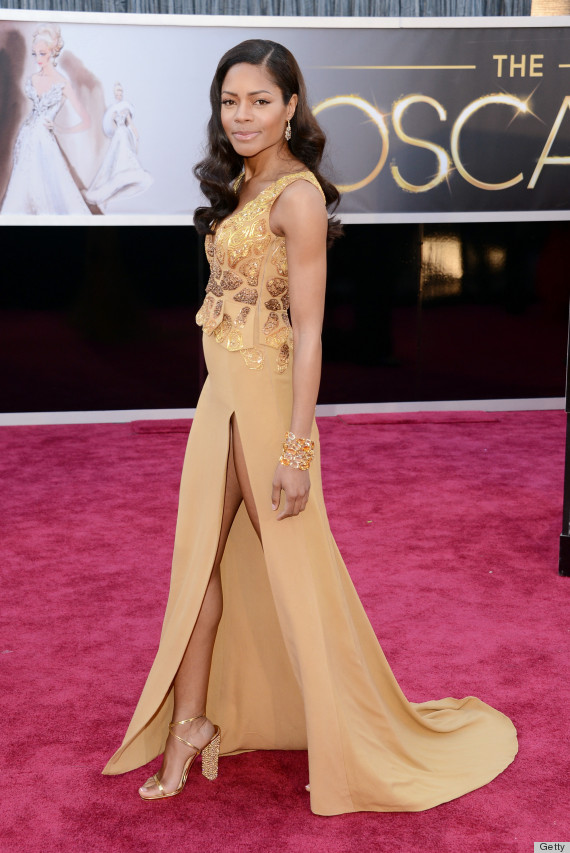 Naomie Harris and her recyled Oscars Dress